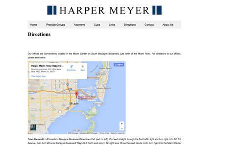 Screenshot of Maps & Directions Page harpermeyer.com - Directions | Harper Meyer - captured July 11, 2016