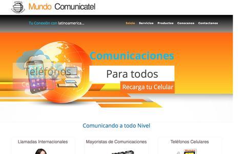 Screenshot of Home Page mundocomunicatel.com - Inicio - captured Dec. 6, 2016