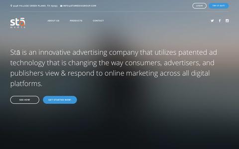 Screenshot of Home Page stamediagroup.com - Stā | Engagement Technology - captured Jan. 31, 2016
