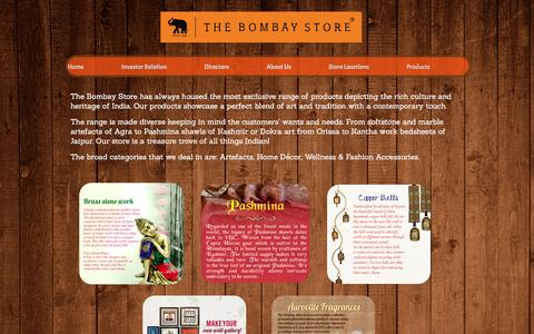 Screenshot of Products Page thebombaystore.com - Home Furnishings, Home Decor, Furniture Store- Mumbai, MH - captured Aug. 16, 2016