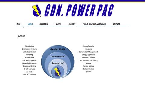 Screenshot of About Page cdnpowerpac.com - About   CDN Power Pac - captured Oct. 28, 2014