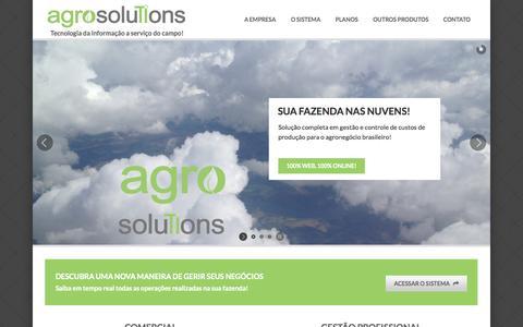 Screenshot of Home Page agrosolutions.agr.br - agrosolutions - Sistema Online de Gestão Agrícola (ERP) - captured Sept. 30, 2014