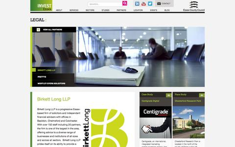 Screenshot of Terms Page investessex.co.uk - Legal |Invest Essex - captured Sept. 30, 2014