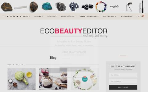 Screenshot of Blog ecobeautyeditor.com - Natural beauty news, reviews | Eco Beauty Editor - captured Nov. 15, 2018