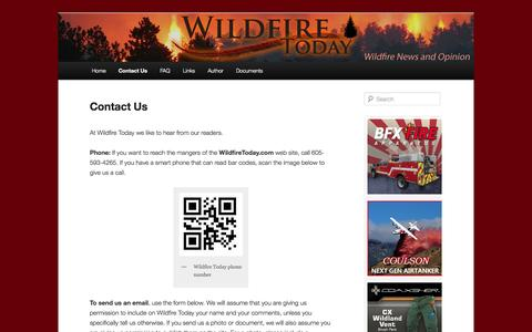 Screenshot of Contact Page wildfiretoday.com - Contact Us | Wildfire Today - captured Sept. 25, 2014