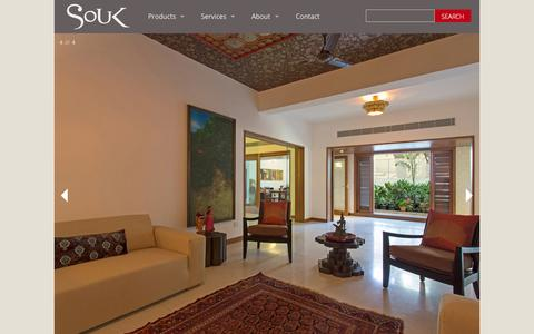Screenshot of Home Page soukonline.in - Souk | Singular Furniture and Accessories - captured Oct. 6, 2014