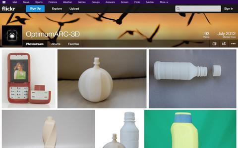 Screenshot of Flickr Page flickr.com - Flickr: OptimumARC-3D's Photostream - captured Oct. 26, 2014