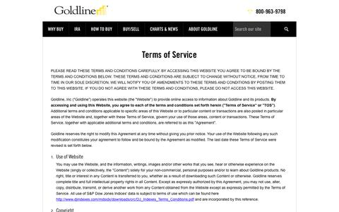 Terms of Service | Goldline Buy Gold and Silver at Goldline