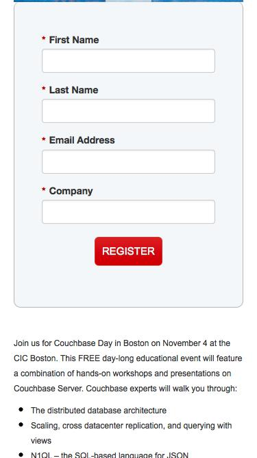 Couchbase Day Boston