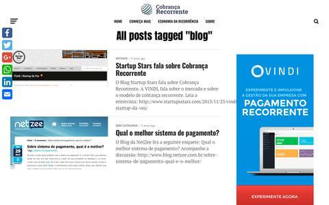 Screenshot of Blog cobrancarecorrente.com - blog Archives - Cobrança recorrente e assinaturas - captured Sept. 29, 2018