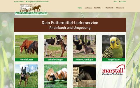 Screenshot of Home Page futtermeister-lieferservice.de - Home - Futtermeister Lieferservice - captured March 26, 2017