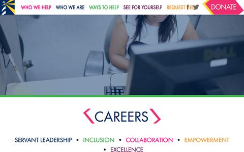Screenshot of Jobs Page lighthousecfl.org - CAREERS | Lighthouse Central Florida - captured July 19, 2018