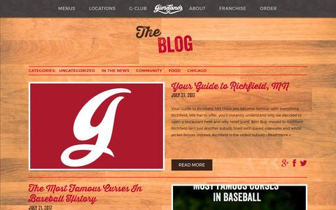 Screenshot of Blog giordanos.com - Giordano's Blog | The Deep Dish on Chicago's Favorite Pizza - captured Aug. 3, 2017