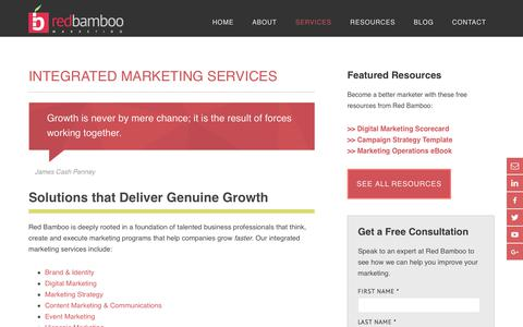 Screenshot of Services Page redbamboomarketing.com - A Full-Service Marketing Agency in Red Bank, NJ: Red Bamboo - captured Nov. 21, 2017