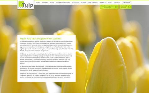 Screenshot of Privacy Page tulpkeukens.nl - Maakt Tulp Keukens gebruik van cookies? - captured Sept. 19, 2014