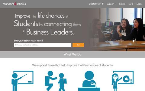 Screenshot of Home Page founders4schools.org.uk - Welcome to Founders4Schools | founders4schools - captured Aug. 3, 2015