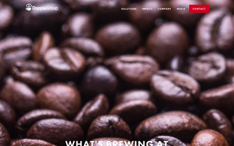 Screenshot of Press Page doppiogroup.com - Media - What's Brewing at Doppio Group - captured Jan. 7, 2016