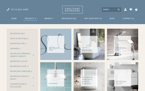Screenshot of Products Page sanctuary-bathrooms.co.uk - Bathroom Products | Sanctuary Bathrooms - captured Oct. 4, 2017