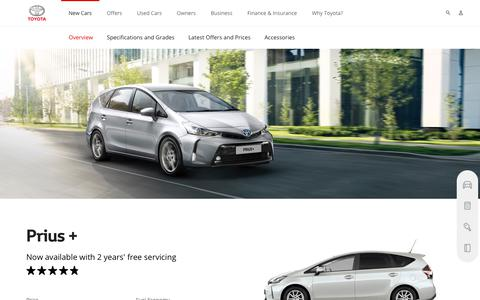 Prius+ | Overview & Features | Toyota UK
