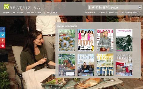 Screenshot of Press Page beatrizball.com - Beatriz Ball Collection - Beatriz Ball Collection - captured Sept. 19, 2014