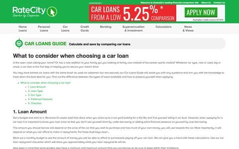 Car Loans Guide | Great Tips and Hints | RateCity.com.au