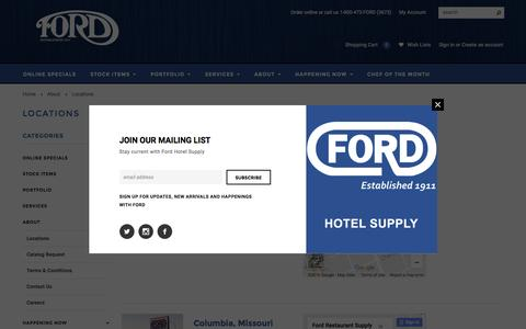 Screenshot of Locations Page fordstl.com - Locations - captured Nov. 25, 2016