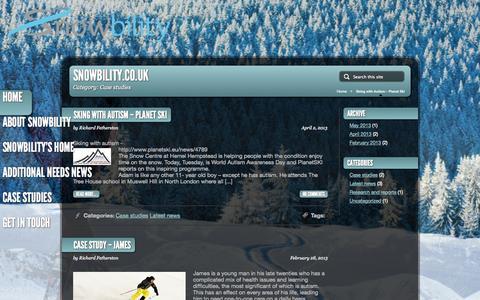 Screenshot of Case Studies Page snowbility.co.uk - Case Studies | snowbility.co.uk - captured Oct. 26, 2014