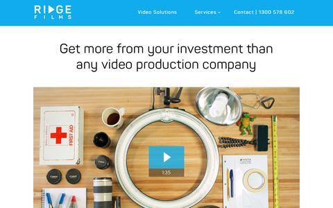 Screenshot of Services Page ridgefilms.com.au - Video Production Company and Video Marketing Sydney   Ridge Films - captured April 26, 2017