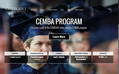 Screenshot of Home Page cotrugli.org - COTRUGLI Business School – Leading Business School - captured Dec. 26, 2016