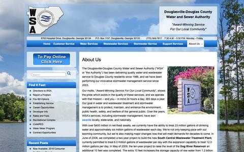 Screenshot of About Page ddcwsa.com - About Us – DDCWSA.com - captured Dec. 19, 2018