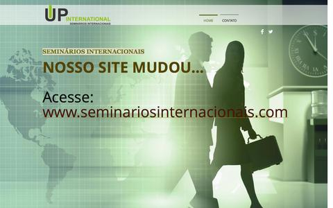 Screenshot of Home Page upseminarios.com - Seminários Internacionais, seminários internacionais, módulo internaci - captured Jan. 23, 2015