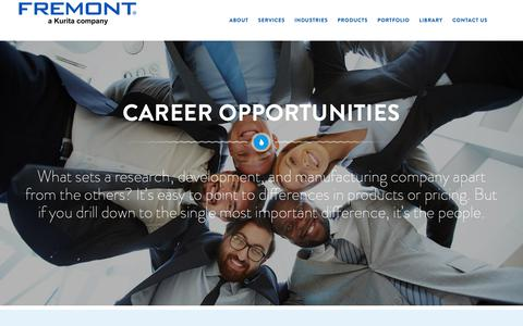 Screenshot of Jobs Page fremontind.com - Careers - Fremont - captured Oct. 11, 2018