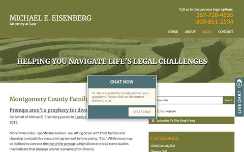 Screenshot of Blog meelawoffice.com - Montgomery County Family Law Blog   Michael E. Eisenberg, Attorney at Law - captured Oct. 18, 2018