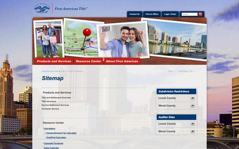 Screenshot of Site Map Page firstam.com - Sitemap - First American Title Insurance - Ohio - County - Toledo - captured Oct. 31, 2018