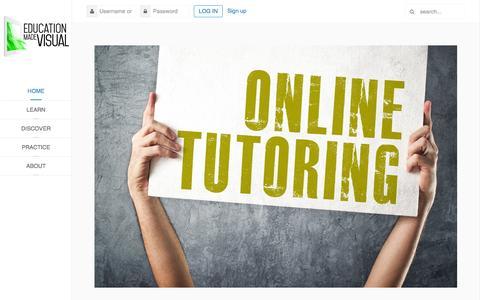 Screenshot of Home Page educationmadevisual.com - Home - Education Made Visual - captured June 18, 2015