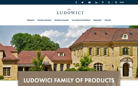 Screenshot of Products Page ludowici.com - Clay Roof Tile & Clay Terra Cotta Cladding Products | Ludowici Roof Tile - captured Sept. 30, 2018