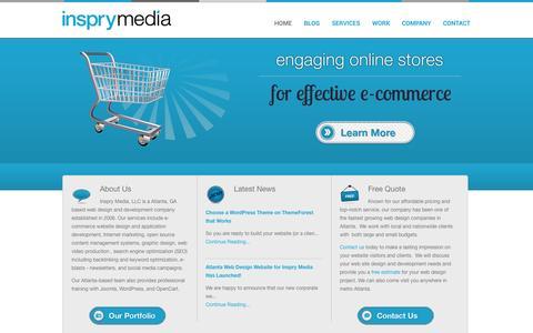 Screenshot of Home Page inspry.com - Atlanta Web Design | Joomla | OpenCart | WordPress | Inspry Media - captured Oct. 6, 2014