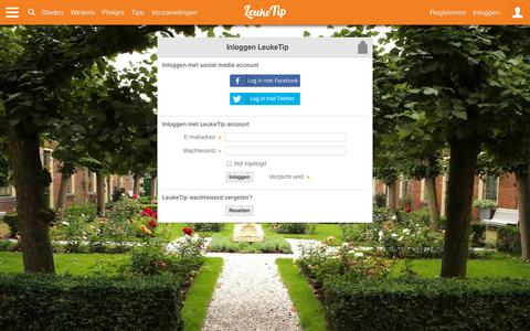 Screenshot of Login Page leuketip.nl - Inloggen op LeukeTip - captured Sept. 30, 2014
