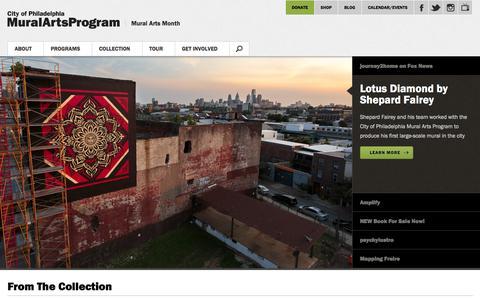 Screenshot of Home Page muralarts.org - Mural Arts Program | Mural Arts Program - captured Sept. 22, 2014