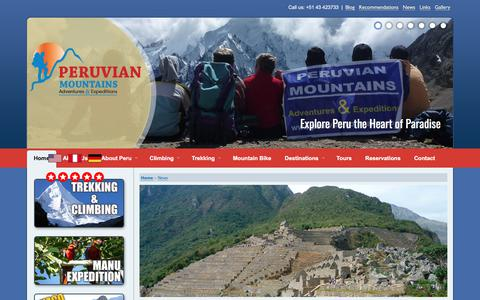 Screenshot of Press Page peruvianmountains.com - News - Travel Information, Huayhuash Range Join Climb Trek Groups - captured July 26, 2017