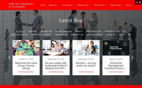 Screenshot of Blog odiritaxconsultants.com - Blog | Odiri Tax Consultants & Accountants - captured Oct. 18, 2018