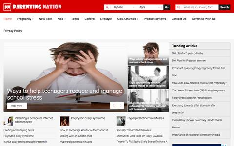 Screenshot of Home Page parentingnation.in - Parenting Tips, Pregnancy Care, Parenting Advice - Parenting Nation India - captured Feb. 18, 2020