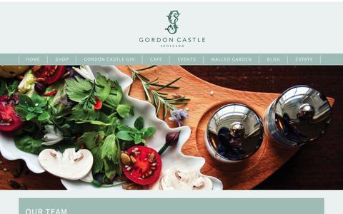 Screenshot of Team Page gordoncastlescotland.com - Team - Gordon Castle Scotland            Gordon Castle Scotland - captured Nov. 12, 2016