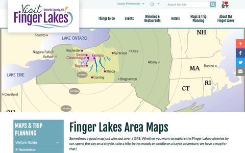 Screenshot of Maps & Directions Page visitfingerlakes.com - Maps - captured Nov. 25, 2016