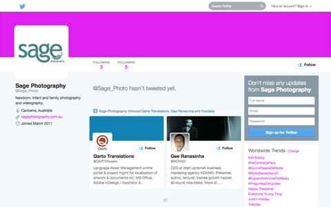 Screenshot of Twitter Page twitter.com - Sage Photography (@Sage_Photo)   Twitter - captured Oct. 22, 2014