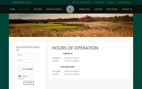 Screenshot of Hours Page orchards.com - Hours of Operation - captured July 3, 2018