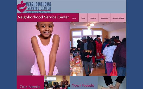 Screenshot of Home Page nsctalbotmd.org - Neighborhood Service Center - captured Sept. 19, 2015