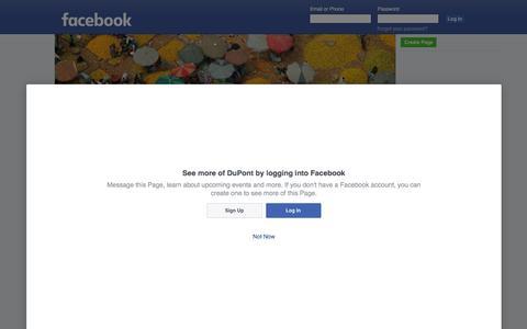 Screenshot of Facebook Page facebook.com - DuPont - captured June 15, 2016