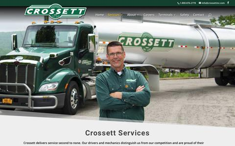 Screenshot of Services Page crossettinc.com - Services | Crossett Inc. - captured Nov. 5, 2018