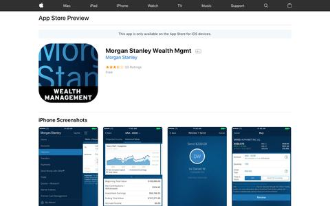 Morgan Stanley Wealth Mgmt on the App Store